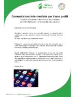 Comunicatore intermediate per il non profit